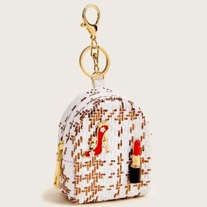 SHEIN Backpack keychain with lipstick and heel!